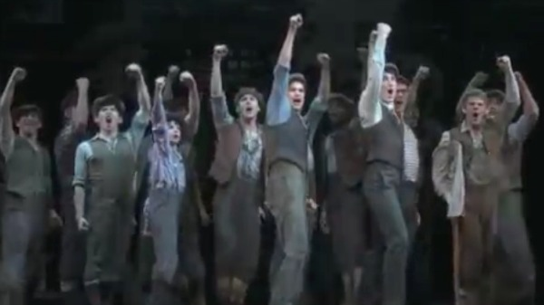 Watch A Sneak Peek of Newsies on Broadway